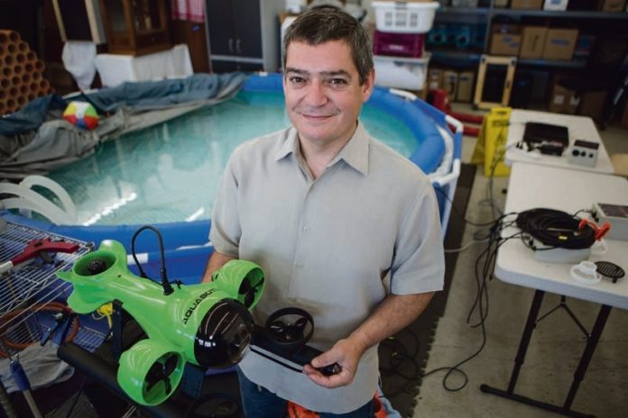 EXPANDING HORIZONS: When Durval Tavares founded Aquabotix Technology in 2010 he took advantage of incubator space available at the University of Massachusetts Dartmouth's Advanced Technology Manufacturing Center, now re-branded as the Center for Innovation and Entrepreneurship. / PBN FILE PHOTO/RUPERT WHITELEY