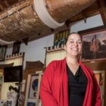 Lorén Spears is executive director of the Tomaquag Museum in Exeter, the state's only American Indian museum, featuring hundreds of artifacts of local tribes. One of the more memorable is a birch tree-crafted canoe, Spears is a descendent of the makers of the canoe. / PBN FILE PHOTO/ MICHAEL SALERNO