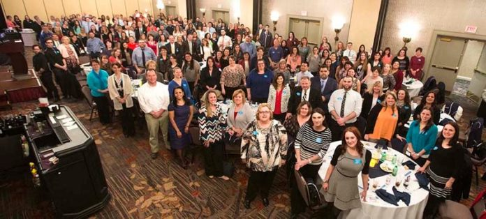 SALUTE TO STAFF: More than 200 workers attended the 2016 Employee Recognition Night held in March. / COURTESY PAWTUCKET CREDIT UNION