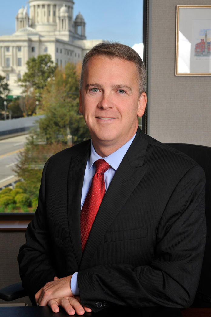 Patrick C. Barry is co-managing attorney with Decof, Decof & Barry, a personal injury law firm in Providence. / COURTESY TOM KUTZ PHOTOGRAPHY