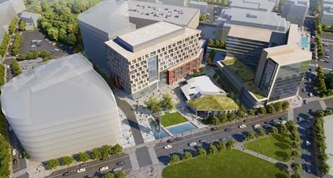 VENTAS, a Chicago-based real estate investment trust focused on health care and life sciences projects, has purchased Wexford Science & Technology, investor in this three-phased development in the I-195 redevelopment district in Providence.  / COURTESY I-195 REDEVELOPMENT COMMISSION