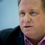 CURT SCHILLING, founder of the failed 38 Studios LLC video game venture and a former Boston Red Sox pitcher, speaks during an interview in New York in 2012. He wrote on Facebook over the weekend that he is going to run for political office. / BLOOMBERG FILE PHOTO/SCOTT EELLS