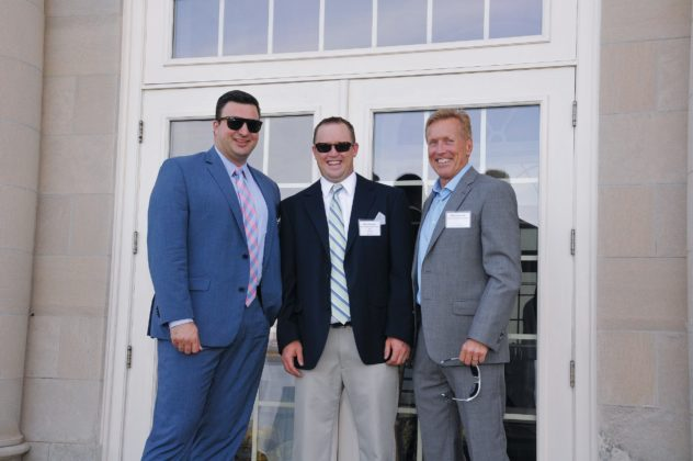 Honorees Constantinos Dafoulas, IGT and Brad Dean, Dean Warehouse with father Brad Dean Sr.