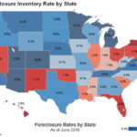RHODE ISLAND'S foreclosure inventory rate fell over the year in June to 1.4 percent, which is 9.6 percent lower than a year ago, CoreLogic said Tuesday. / COURTESY CORELOGIC