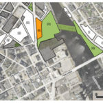 PICTURED IS Parcel 42, a 1.08-acre sliver of land that fronts Parcel 4, the proposed 5-acre district park that is the downtown landing for the pedestrian bridge. / COURTESY I-195 DISTRICT COMMISSION