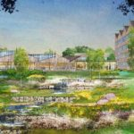 IN THE WORKS: Citizens Financial Group Inc., much to the chagrin of a group of local residents, has obtained the rights to build a 420,000-square-foot corporate campus on roughly 108 acres in Johnston. / ARCHITECT'S RENDERING COURTESY OF CITIZENS FINANCIAL GROUP