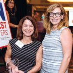 Preventure's Cindy Butts and Morgan Glade accept their Healthiest Employee award