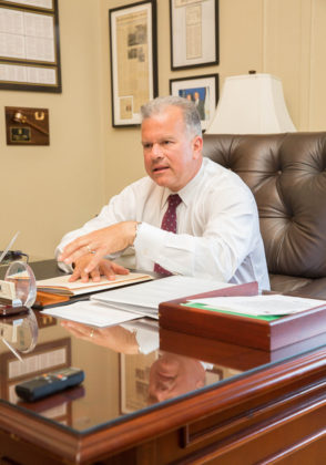 STRAIGHT TALK: House Speaker Nicholas A. Mattiello says he will begin vetting candidates for his leadership team next year if he's re-elected in November. / PBN PHOTO/TRACY JENKINS