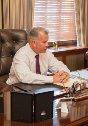 """TAX REVIEW: House Speaker Nicholas A. Mattiello said a """"lack of tax predictability creates instability, and it scares investment off."""" / PBN PHOTO/TRACY JENKINS"""