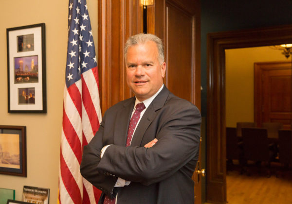 BULLISH ON RHODE ISLAND: House Speaker Nicholas A. Mattiello said he does not think companies are wary of locating to the state amid a perception of legislative ethics flaws. / PBN PHOTO/TRACY JENKINS