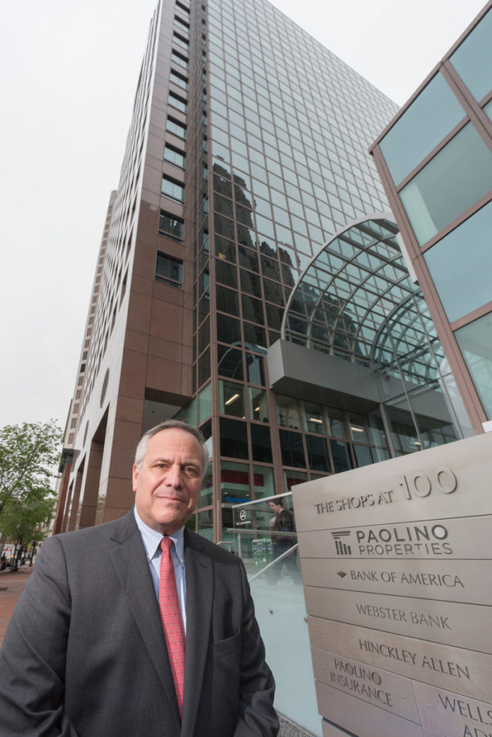 JOSEPH R. Paolino Jr. is shown in front of Paolino Properties headquarters at 100 Westminster St. in Providence.  /  PBN FILE PHOTO/MICHAEL SALERNO