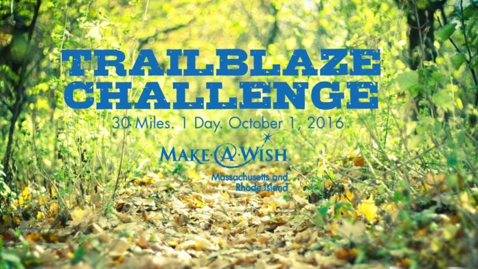 MAKE A WISH MASSACHUSETTS AND RHODE ISLAND is organizing a one-day, 30 mile hike in western Massachusetts from Sept. 30 to Oct. 2 to raise funds.