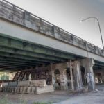 RHODE ISLAND ranked 47th in the U.S. in highway performance by the nonprofit Reason Foundation. Shown is the 6-10 connector, just south of Westminster Street in Providence, showing the temporary braces put in by R.I. Department of Transportation 15 years ago. / PBN FILE PHOTO/ MICHAEL SALERNO