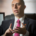 MAYOR JORGE O. Elorza on Monday announced a year-end operating surplus of $5.14 million, which will be used to pay down the city's multimillion dollar structural deficit.  / PBN FILE PHOTO/STEPHANIE ALVAREZ EWENS