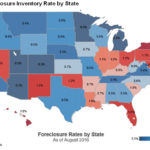 THE FORECLOSURE rate fell in August in Rhode Island to 1.3 percent, according to CoreLogic. / COURTESY CORELOGIC