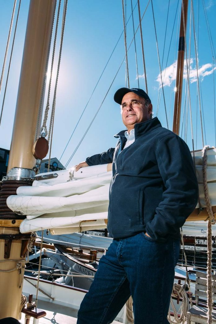 John Hirschler founded Sightsailing of Newport in 1990. Other than a small company on Goat Island, Sightsailing was the first company along the waterfront in downtown Newport to offer regularly scheduled sailing cruises to the public. / PBN PHOTO/RUPERT WHITELEY