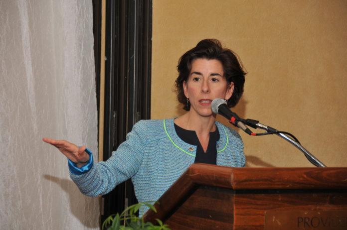 "GOV. GINA M. RAIMONDO said the new $6 million federal grant to bolster advanced manufacturing and information technology training will ""expand the Real Jobs RI program and prepare hundreds of Rhode Islanders for the advanced manufacturing jobs we're creating in our state."" / PBN FILE PHOTO/MIKE SKORSKI"