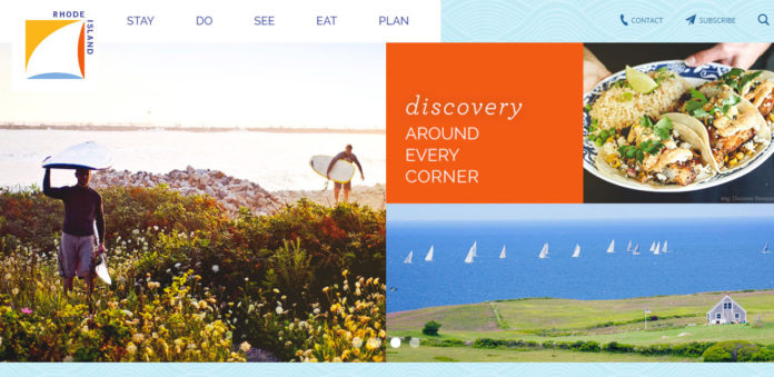 A TUSCON, ARIZ.-based firm that provides website design has been hired to revamp the visitrhodeisland.com website. / COURTESY VISITRHODEISLAND.COM