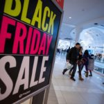 SHOPPERS take advantage of Black Friday bargains. / BLOOMBERG NEWS PHOTO