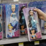 DISNEY PRINCESS dolls are shown for sale. Frozen, in particular, was a winner on store shelves. / BLOOMBERG NEWS PHOTO