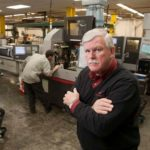 DAVID CHENEVERT is shown at his former business, Swissline Precision Manufacturing in Cumberland; Chenevert recently was named executive  director of the Rhode Island Manufacturers Association.  / PBN FILE PHOTO/DAVID LEVESQUE