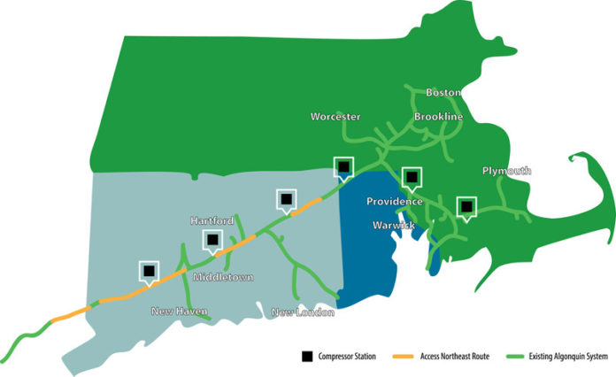 NATIONAL GRID has withdrawn its initial financing proposal before the R.I. Public Utilities Commission for the expansion of natural gas capacity in New England, but the utility says that it continues to work with other entities to find a new way to complete the project, known as Access Northeast. / PBN GRAPHIC/DARRYL GREENLEE