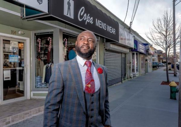 SEEKING SUPPORT: Frank Ankoma, owner of Copa Menswear in Providence, would like to see the city offer lower interest rates on small-business loans and programs to teach immigrants how to be successful business owners. / PBN PHOTO/MICHAEL SALERNO