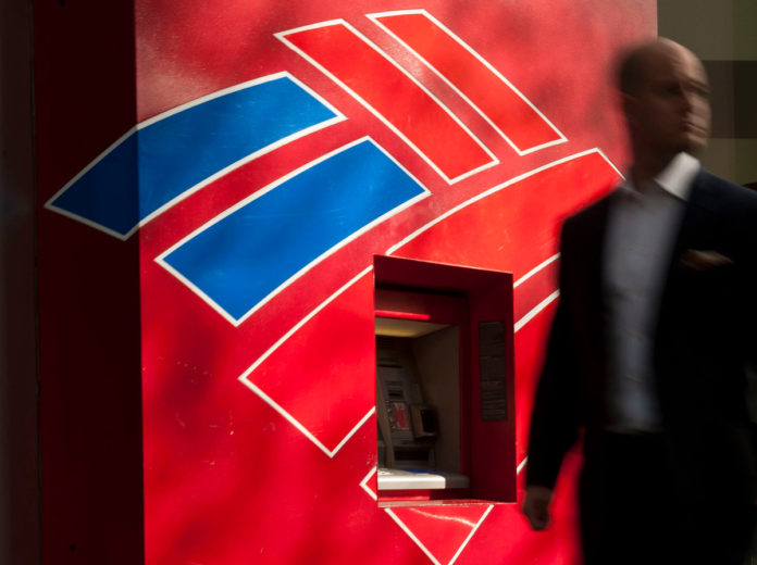 BANK OF America Corp. posted fourth-quarter revenue that missed analysts' estimates as a 12 percent increase in bond trading fell short of predictions. / BLOOMBERG NEWS PHOTO
