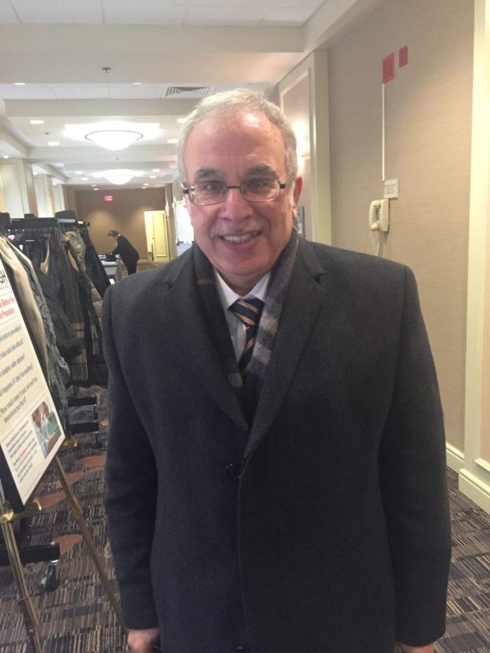 DR. OSAMA HAMDY, medical director of Joslin Diabetes Center's obesity clinical program, was the keynote speaker at the Rhode Island Business Group on Health diabetes summit on Jan. 20. / PBN PHOTO/NANCY KIRSCH