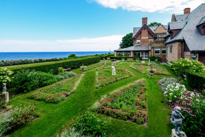 OCEAN LAWN, a circa 1889 Queen Anne-style home in Newport located along Cliff Walk, has sold for $11.65 million. / COURTESY LILA DELMAN REAL ESTATE INTERNATIONAL