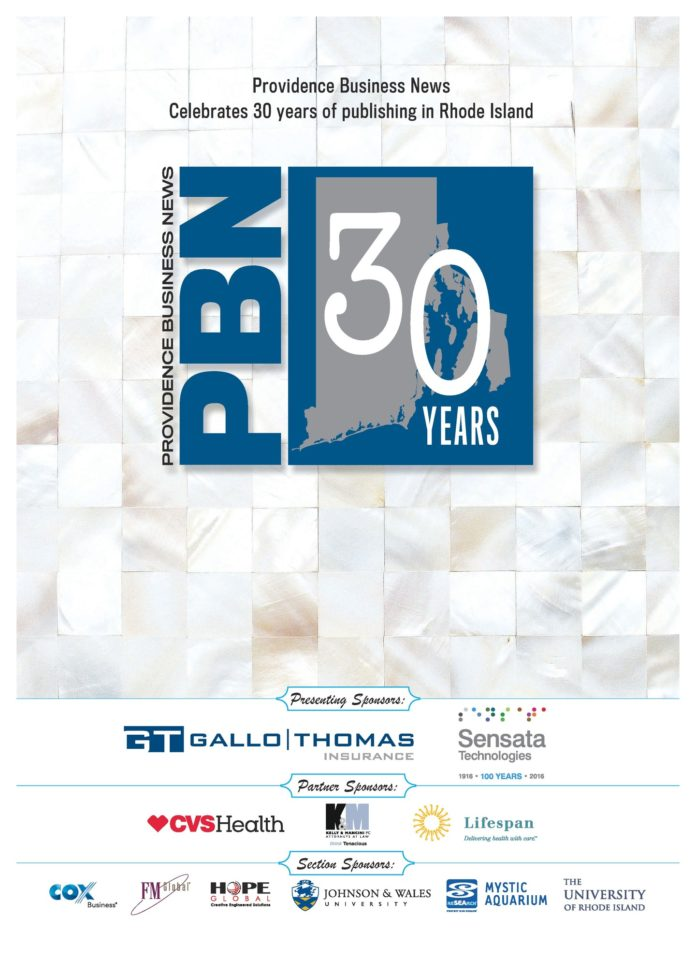THE 30TH ANNIVERSARY BOOK published by Providence Business News in May 2016 was one of three first-place wins for PBN in the New England Newspaper and Press Association's 2017 Better Newspaper Competition. Winners were announced Feb. 24 and 25 in Boston.