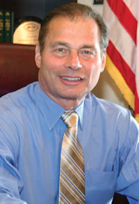 STATE SEN. Dominick J. Ruggerio, D-North Providence, was unanimously elected on Thursday to serve as Senate president. He replaces Sen. M. Teresa Paiva Weed, D-Newport, who resigned from the leadership post to take a job with a hospital association. / COURTESY R.I. GENERAL ASSEMBLY