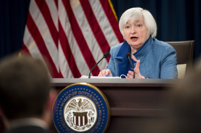 """FEDERAL RESERVE Chair Janet Yellen said an interest-rate increase would """"likely be appropriate"""" at the central bank's upcoming meeting if employment and inflation continue to meet policy makers' expectations.  / BLOOMBERG NEWS FILE PHOTO/PETE MAROVICH"""