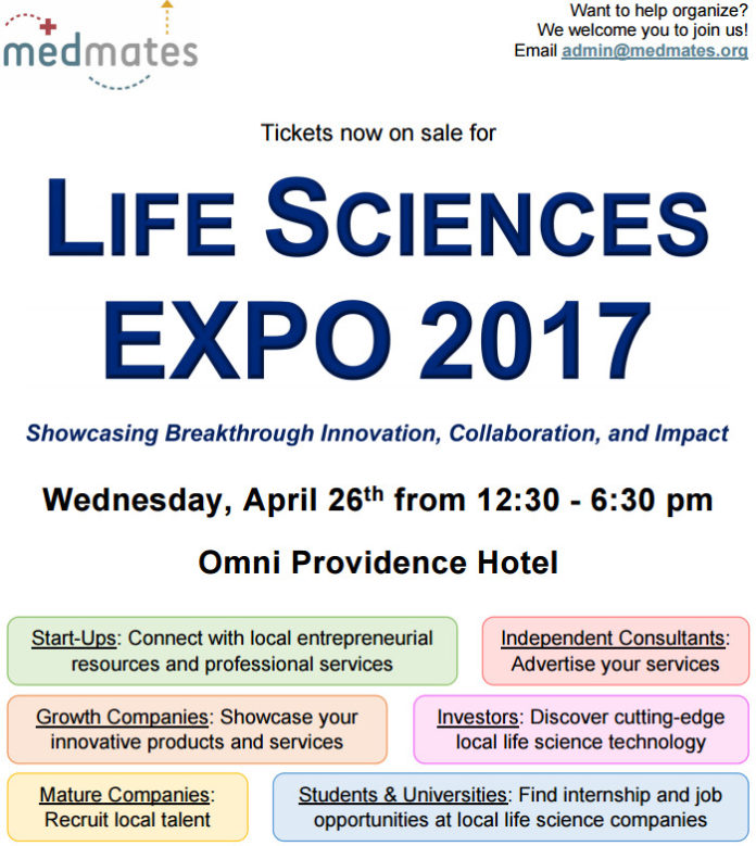 MEDMATES IS hosting a Life Sciences Expo on April 26 at the Omni Providence Hotel. / COURTESY MEDMATES
