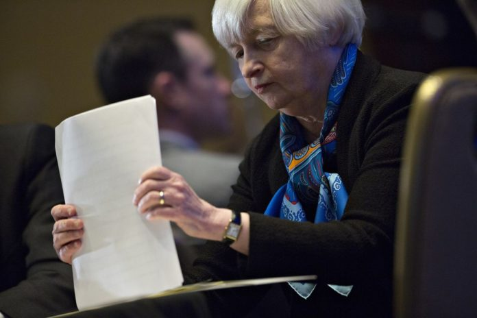 JANET YELLEN, chair of the U.S. Federal Reserve, said challenges remain in the U.S. labor market, including concentrations of elevated joblessness in poor and minority communities. / BLOOMBERG NEWS PHOTO/ANDREW HARRER