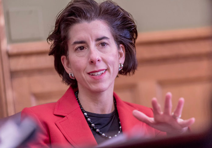 ONCE MORE UNTO THE BREACH: Gov. Gina M. Raimondo's landmark 2011 state-worker pension reform needs some serious tweaking to make sure it stays on course. / PBN FILE PHOTO/ MICHAEL SALERNO