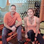 FITNESS VETERAN: Jay Wagnon, area developer, and Lori Snietka, director of sales and operations, at Orangetheory Fitness in Cranston. / PBN PHOTO/MICHAEL SALERNO