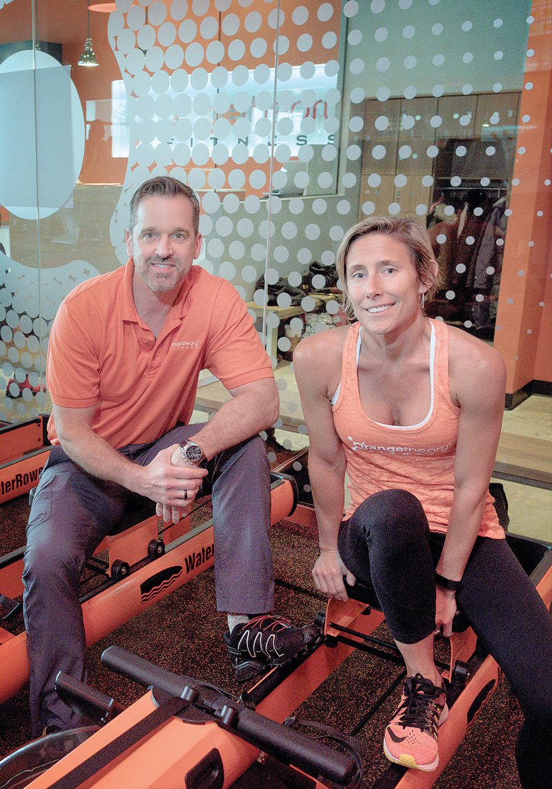 FITNESS VETERAN: Jay Wagnon, area developer, and Lori Snietka, director of sales and operations, at Orangetheory Fitness in Cranston. / PBN PHOTO/MICHAEL SALERNO