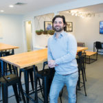 CLATTER FREE: Spire Space co-owner Josh Furtado shows off shared work space that can be rented by the hour.  / PBN PHOTO/KATE WHITNEY LUCEY