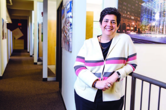 SEEING THE WHOLE PICTURE: Shawmut Design and Construction's Marianne Monte helps create programs that attract and retain a talented workforce that better reflects the diversity of the communities it works in. / PBN PHOTO/RUPERT WHITELEY