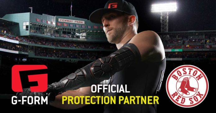 G-FORM will provide wearable protection gear to the Boston Red Sox through a three-year partnership as part of its new baseball line. /COURTESY G-FORM