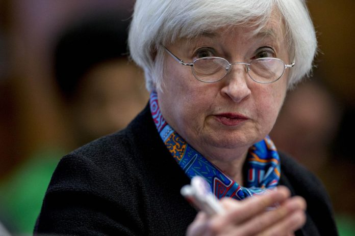 JANET YELLEN, chair of the U.S. Federal Reserve, said the U.S. central bank's task has shifted from a post-crisis exercise of healing the economy to one aimed at holding on to progress made. /BLOOMBERG NEWS PHOTO/ANDREW HARRER