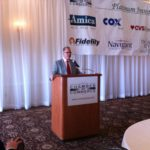 "HOUSE SPEAKER NICHOLAS A. Mattiello speaks at the annual ""Eggs and Issues"" breakfast on Wednesday in Lincoln."