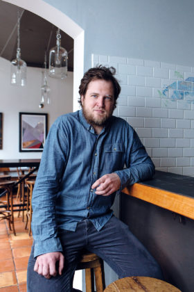 Benjamin Sukle, owner of Oberlin and birch restaurants in Providence. Helping Sukle strike a balance between good food and good hospitality is his wife, Heidi, who handles front-of-house duties at birch as its general manager.  / PBN PHOTO/RUPERT WHITELEY