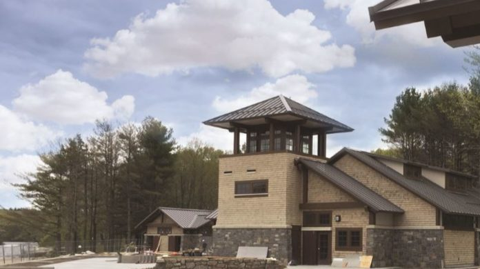 A new pavilion and visitor center at the beach area of Olney Pond in the Lincoln State Park will open on Friday. / COURTESY R.I. DEPARTMENT OF ENVIRONMENTAL MANAGEMENT