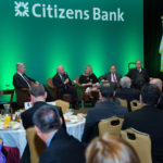 At the Greater Providence Chamber of Commerce's annual Congressional Breakfast, the delegation considered the first 100 days of President Trump's administration. /COURTESY PCC/ CONSTANCE BROWN