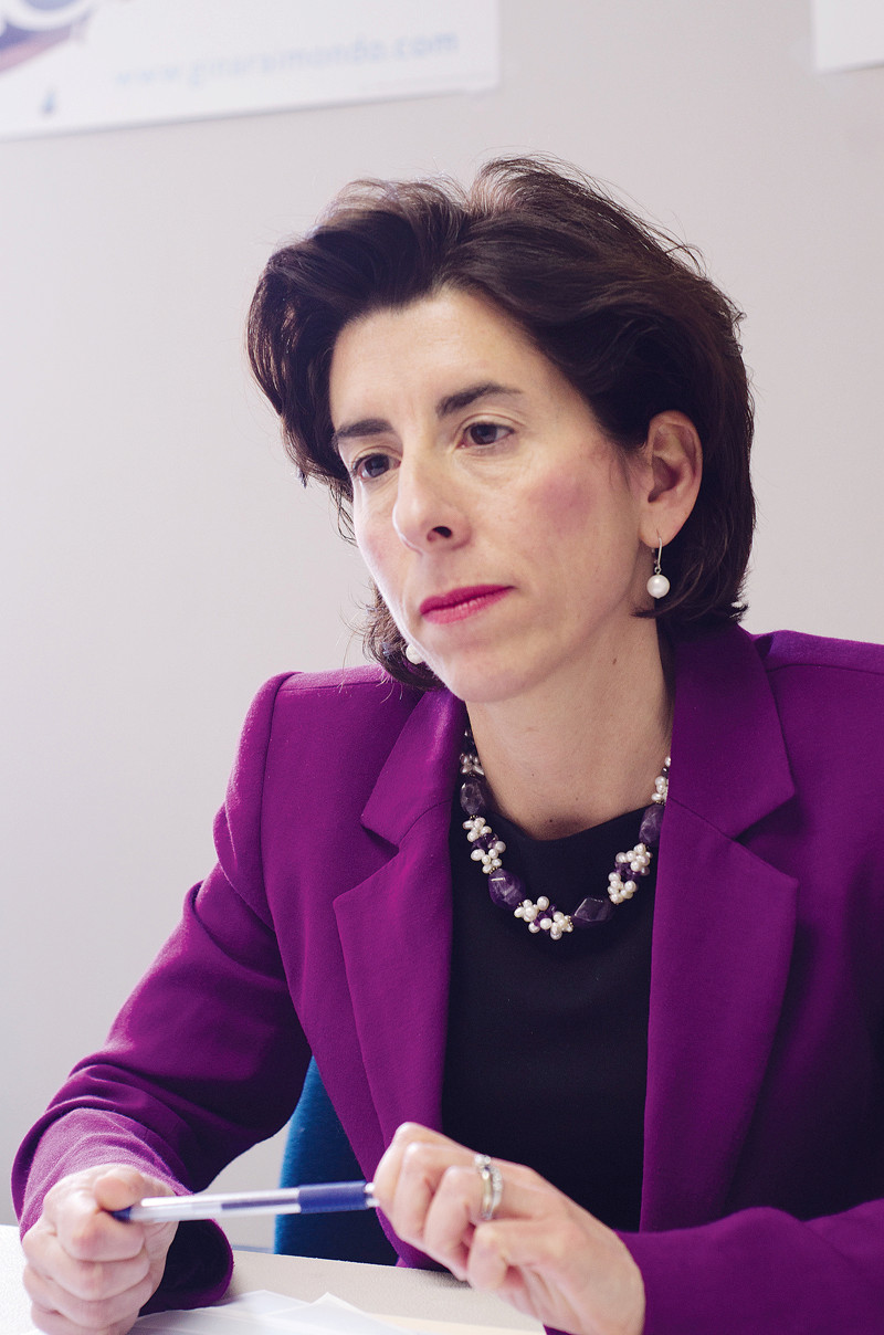 COMPETING PRIORITIES: Gov. Gina M. Raimondo has been unable to convince House Speaker Nicholas A. Mattiello to support her plan to offer two years of free college to R.I. High school graduates. / PBN FILE PHOTO / JAIME LOWE