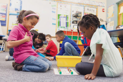 SECOND GRADE students at Highlander Charter School in Providence. / PBN FILE PHOTO/DAVID LEVESQUE