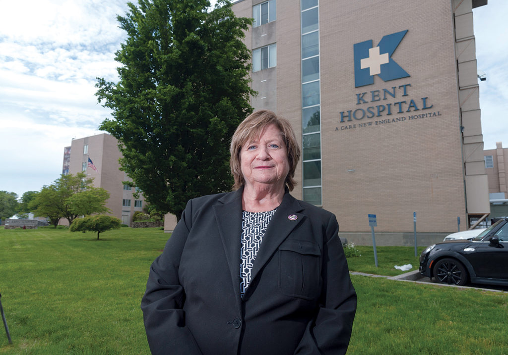 STUNNED: Although Linda McDonald, a veteran registered nurse and president of the United Nurses and Allied Professionals union, knew a merger was coming with Care New England, she was stunned at the size of CNE's new partner, Boston-based Partners Healthcare, and the number of jobs at stake. / PBN PHOTO/­MICHAEL SALERNO