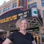IN THE THICK OF IT: Cara Cromwell, executive director of Rhode Island NGA 2017, poses in front of the Providence Performing Arts Center, one of four venues that will be featured in the National Governors Association annual summer meeting in July, which is being hosted by Rhode Island.  / PBN PHOTO/MICHAEL SALERNO